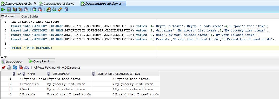 BryansGeekSpeak: Exporting Oracle Table Data Using SQL Developer
