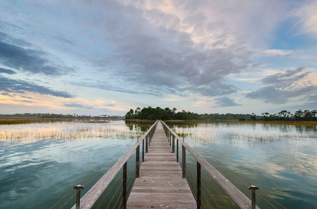 Dock at a South Carolina vacation estate