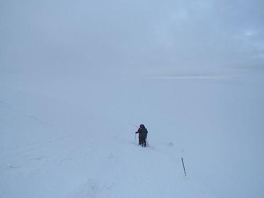 Zejście ze szczytu.