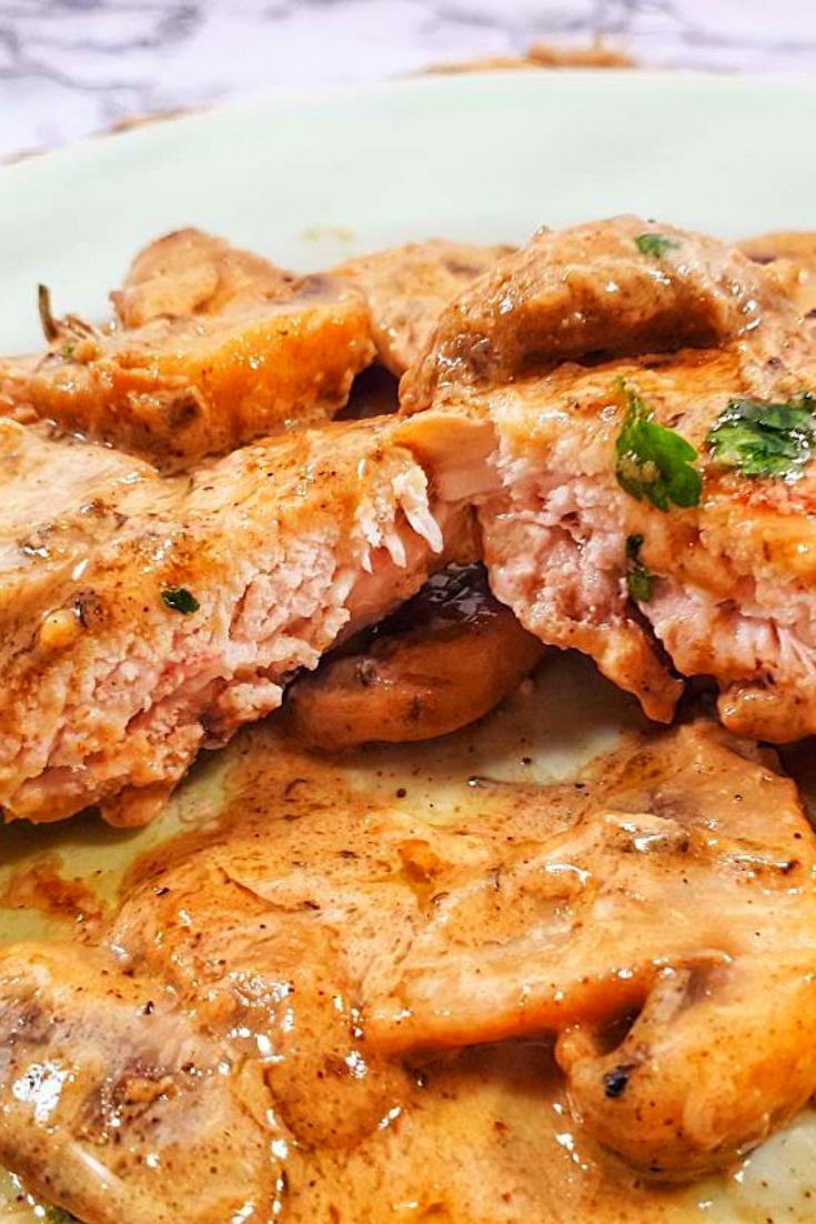 Keto Chicken Thighs with Creamy Garlic Mushroom Sauce