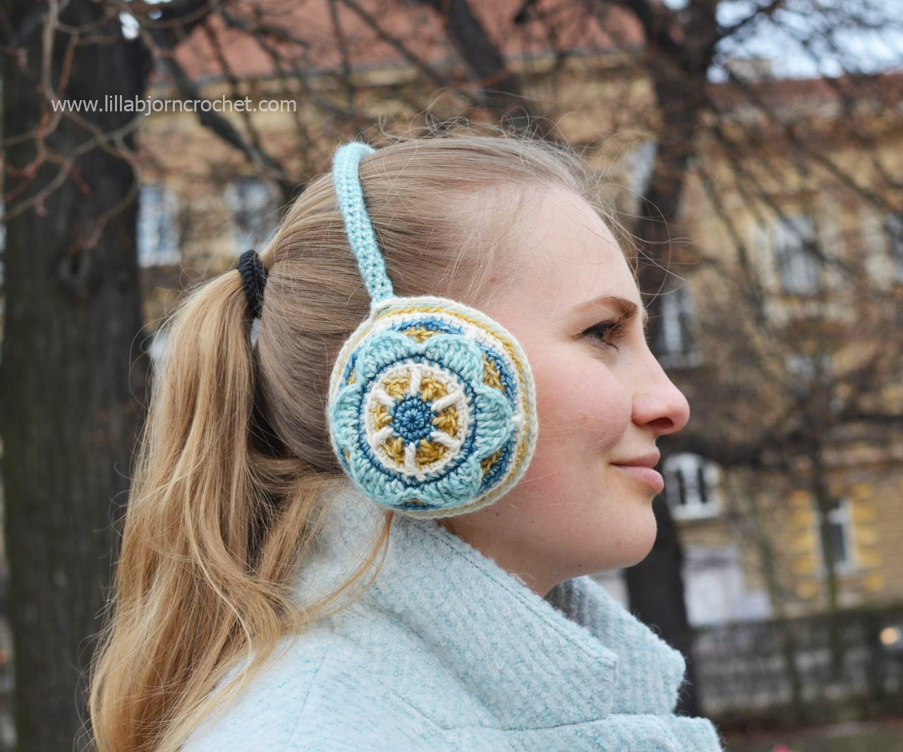 Crocheted ear muffs by Lilla Bjorn Crochet