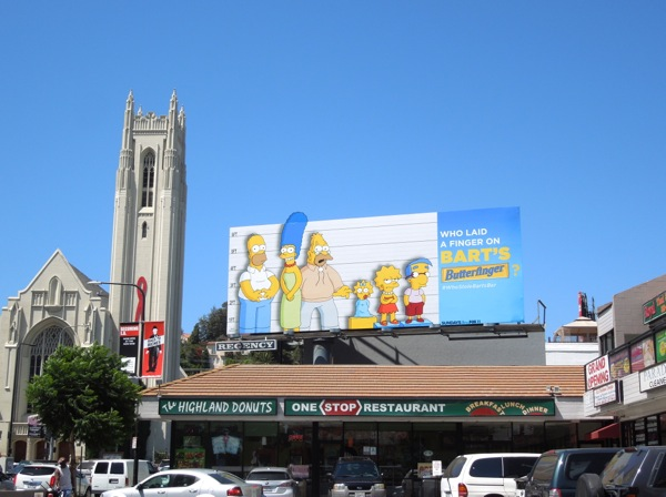 Bart's Butterfinger The Simpsons billboard Highland Avenue