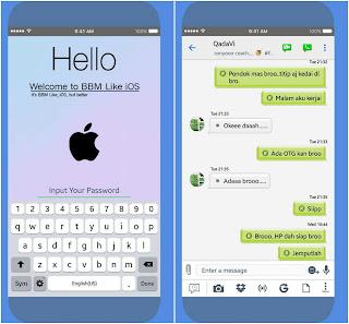 BBM Mod Like iOS v3.3.1.21 Apk