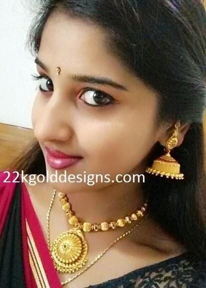 TV Actress Meghana Lokesh in Gold Balls Jewellery