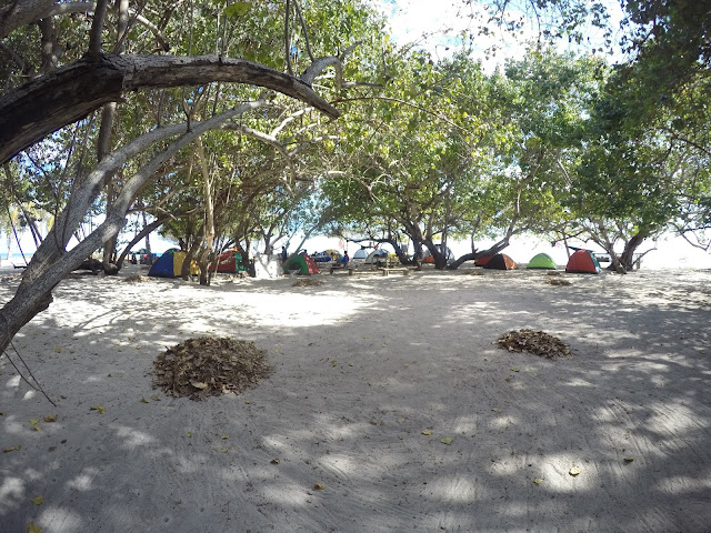 Camping Grounds at Apo Reef Island