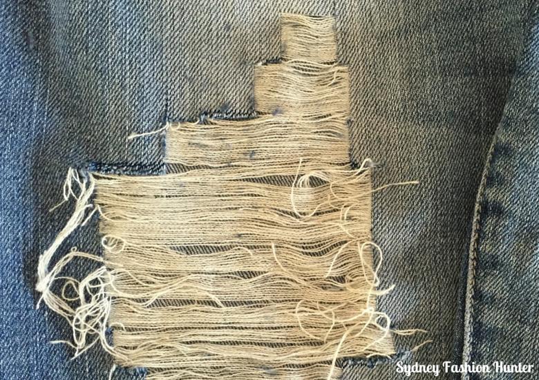 DIY Destroyed Jeans  Irregular Hole