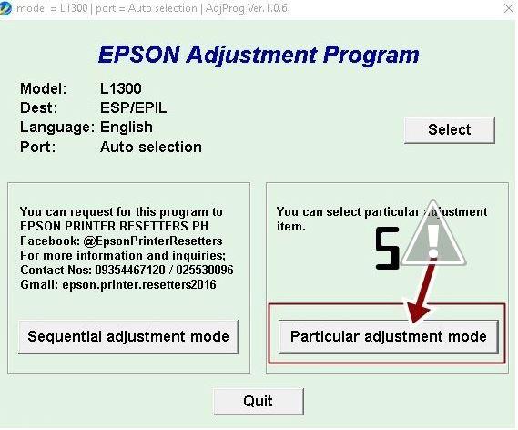 resetter printer epson L1300