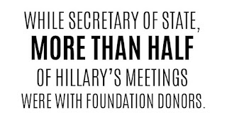 While Secretaru fo State, more than half of Hillary's meetings were with Foundation donors