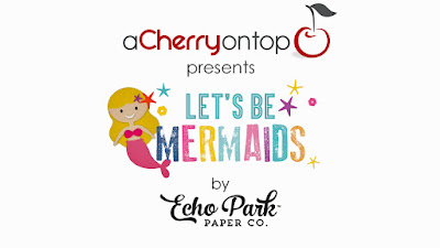 let's be mermaids paper and stickers