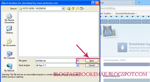 bagaimana  Mendownload Semua Foto Dan Video facebook.