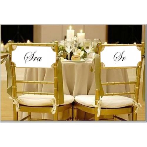 como decorar cadeira dos Noivos