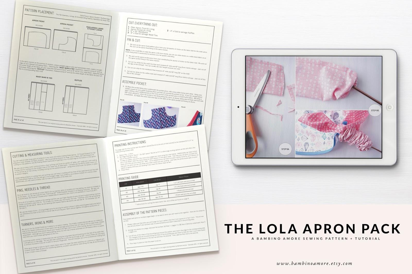 Free Apron Sewing Pattern: The Lola Half Apron