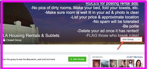 how to join groups on facebook as a page