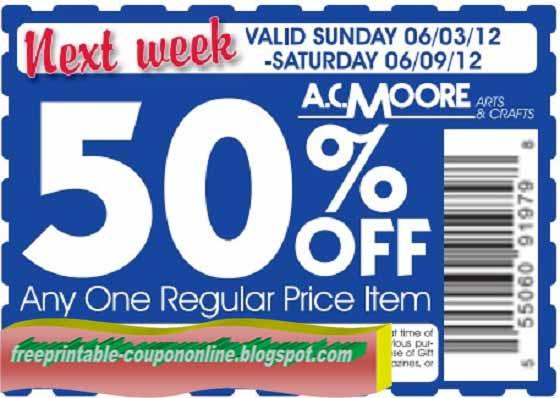 Ac moore coupon may 2018