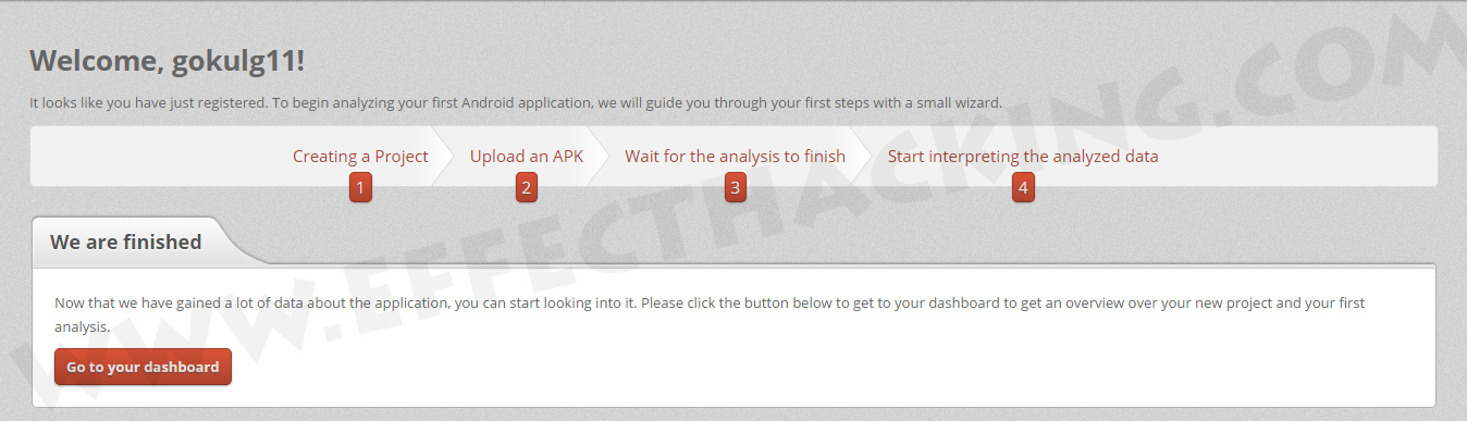 Dexter APK Analysis Finished Screenshot