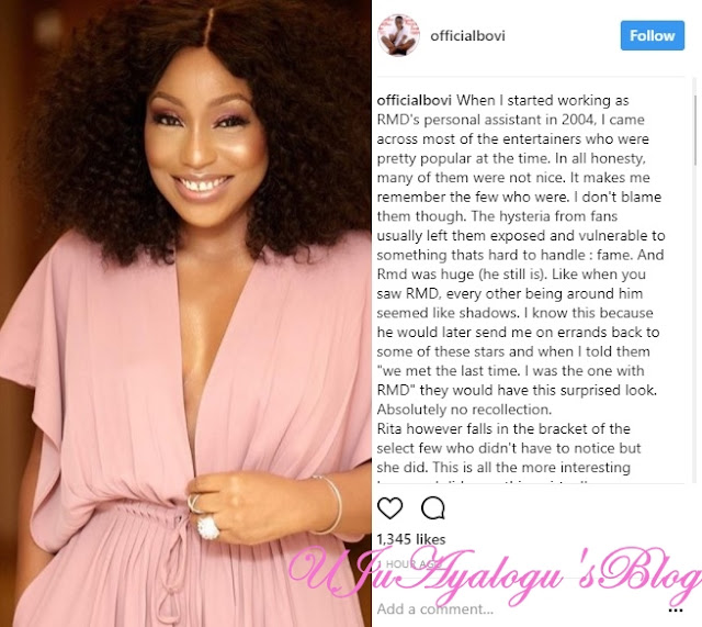 Comedian Bovi, Writes Touching Tribute To Rita Dominic As She Celebrate Her Birthday