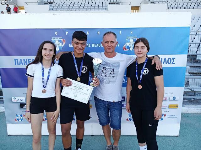 Διακρίσεις αθλητών του Αριστέα Άργους στο Πανελλήνιο πρωτάθλημα Στίβου Παμπαίδων, Παγκορασίδων