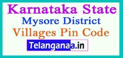 Mysore District Pin Codes in Karnataka State