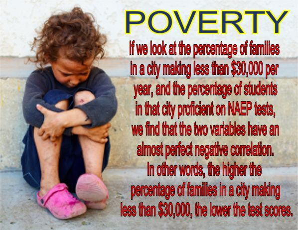 Image result for big education ape  Link between poverty, test scores