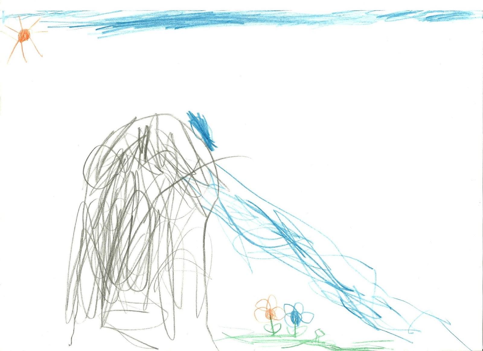 Ebből az imaginációból egy gyönyörű rajz is született - természetesen  lóháton. be014a11cb