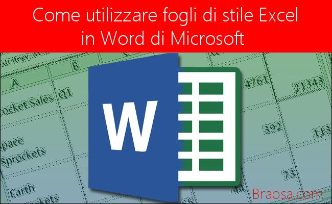 Come utilizzare i fogli di stile Excel in Word