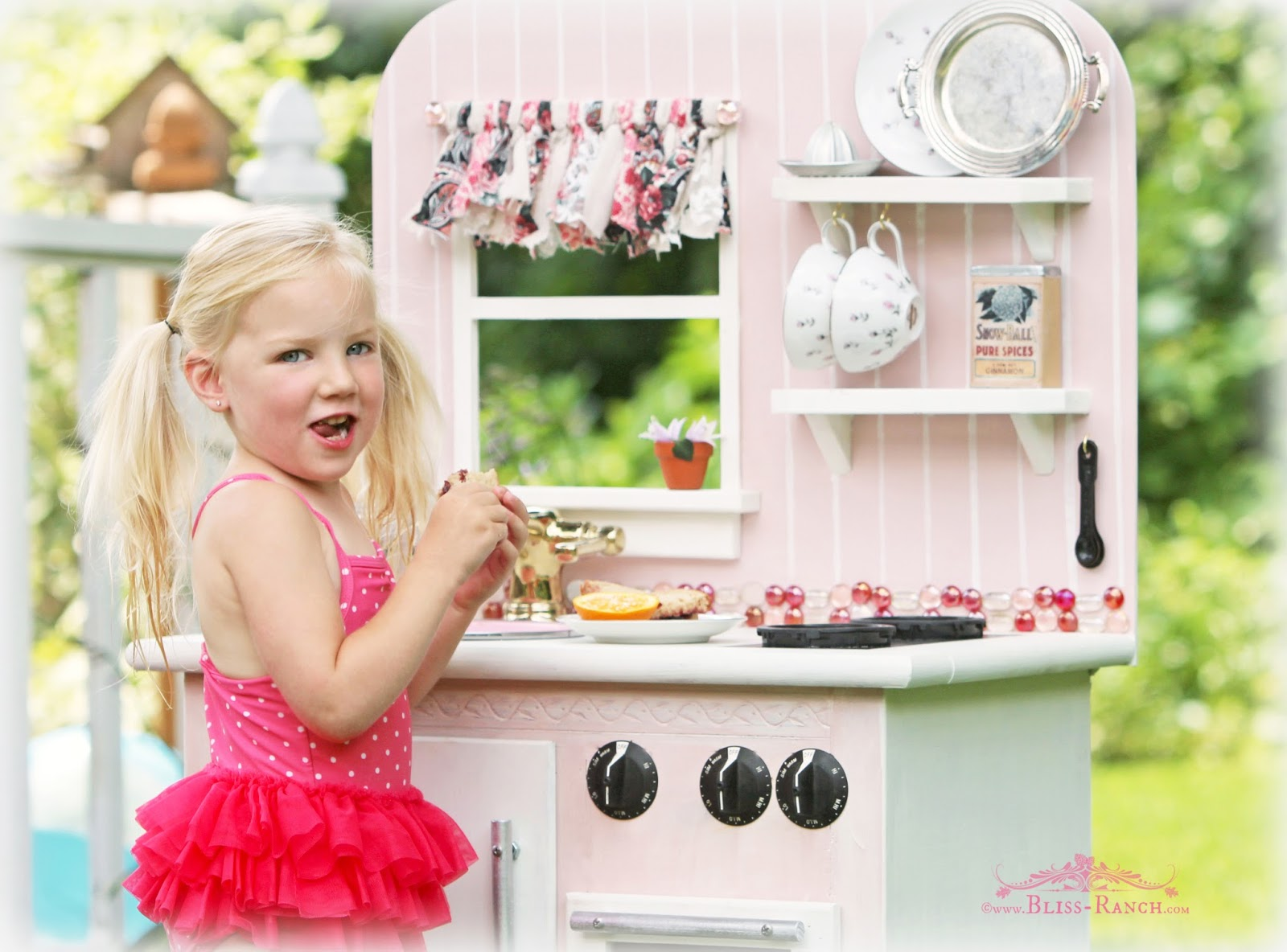 Pink Play Kitchen from Nightstand Bliss-Ranch.com