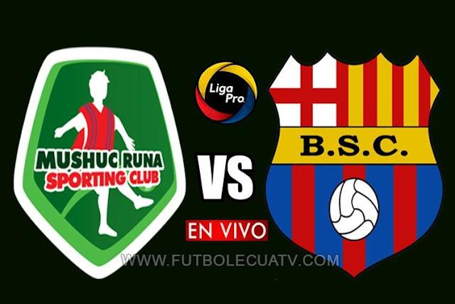 Mushuc Runa y Barcelona SC chocan en vivo 📺 a partir de las 14:00 hora local por la fecha 18 de la Liga Pro ⚽ a realizarse en el Estadio Bellavista de Ambato, siendo el juez principal Roddy Zambrano con transmisión del medio autorizado GolTV Ecuador.