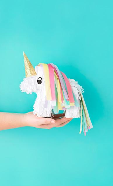 How to make a miniature unicorn pinata craft