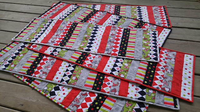 Christmas quilt as you go table runner