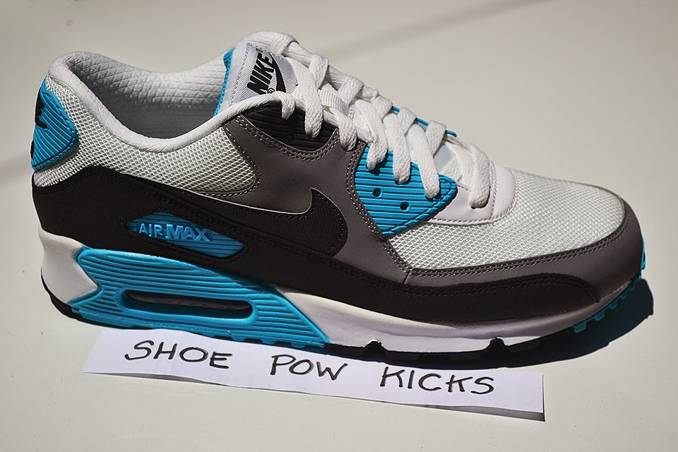 7fd0aba0ed40 Shoe Pow Kicks  Nike Air Max 90 - Summit White Medium Grey Black ...