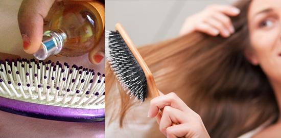 11 truques simples que fazem seu perfume durar mais - Perfume na escova de cabelo