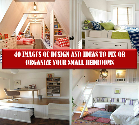 """Are you looking for inspiration on how to decorate and organize your small bedrooms? How to fix your things in small apace? Check this fantastic space saving design ideas."""