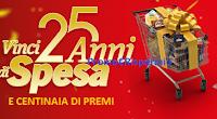 Logo Con Lidl vinci 25 anni di spesa: oltre 1.000 buoni e un super premio da 65.000 euro !