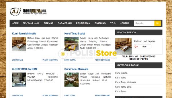 Alvinno Jati Jepara - Verifikasi Toko Online Aman dan Terpercaya - Polisi Store