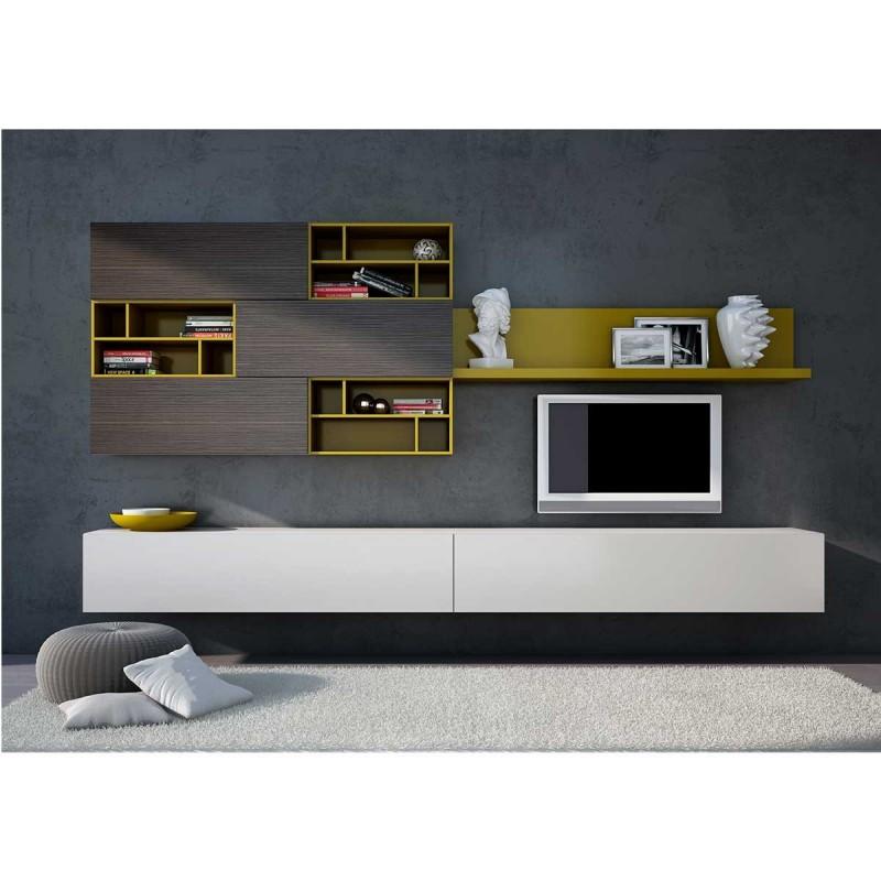 meuble tv suspendu bois meuble tv. Black Bedroom Furniture Sets. Home Design Ideas