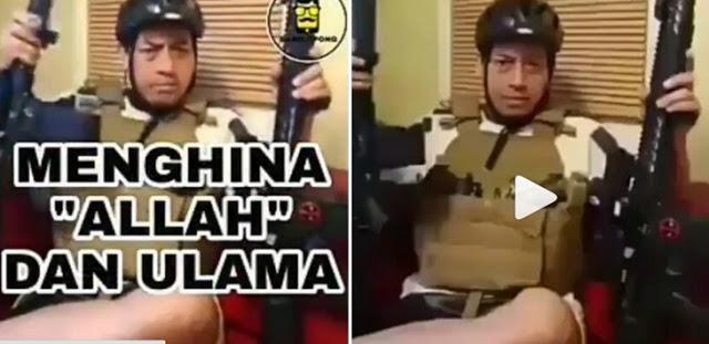 Sambil Pamer Senjata Api, Pria Ini Ejek Ustadz Arifin Ilham, Sebut Allahu Bar Bar