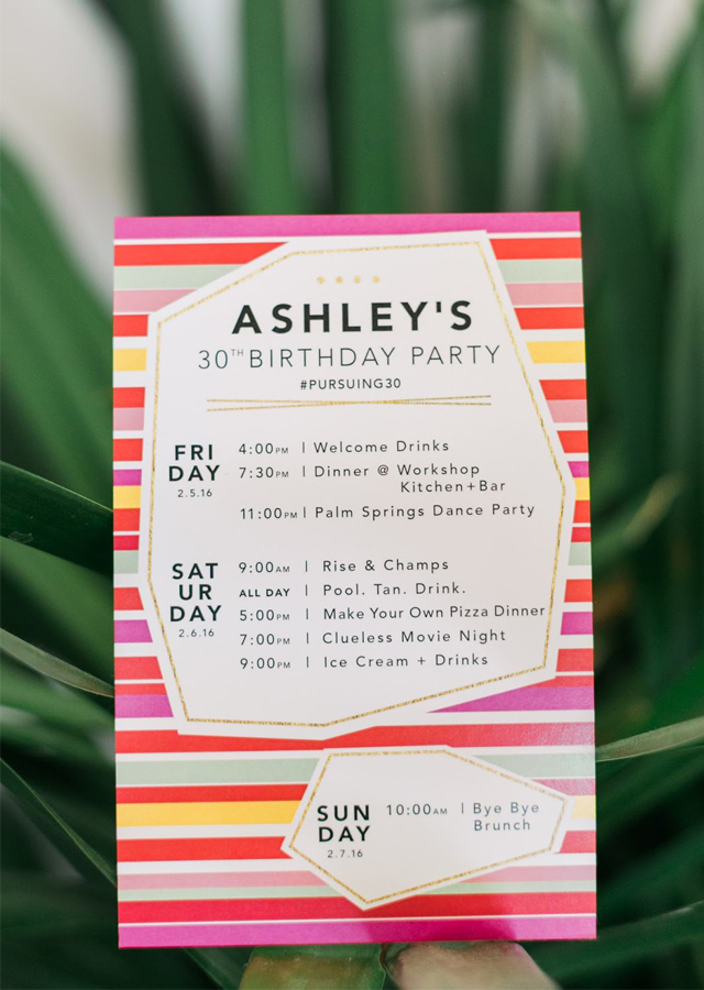 palm springs birthday party, 30th birthday ideas, how to celebrate your birthday