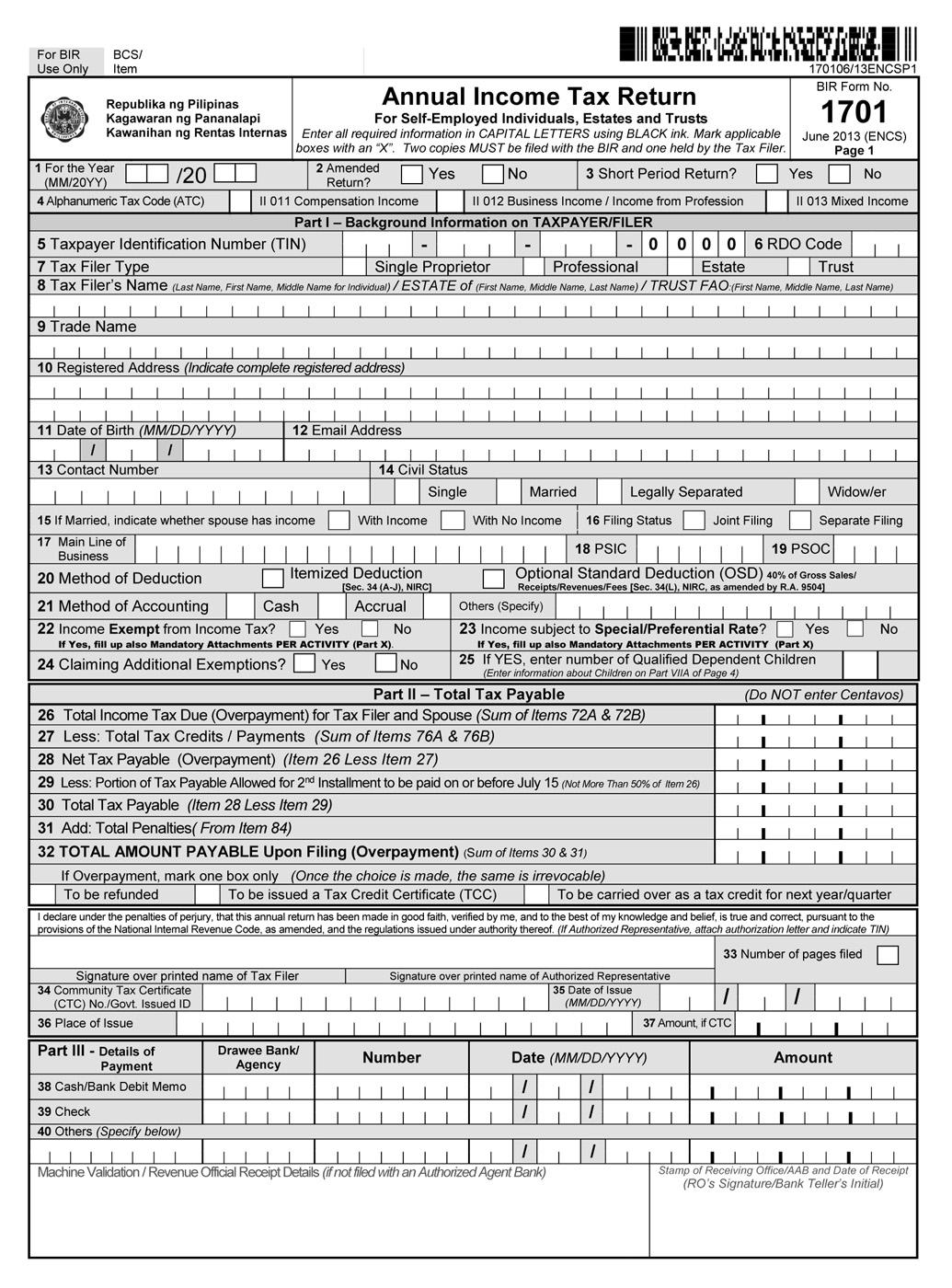 busapcom: BIR Form 1701 Download