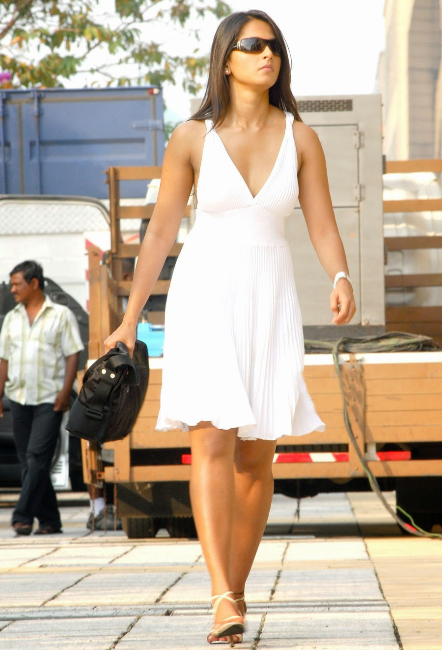 Anushka Shetty Photos In White Long Gown