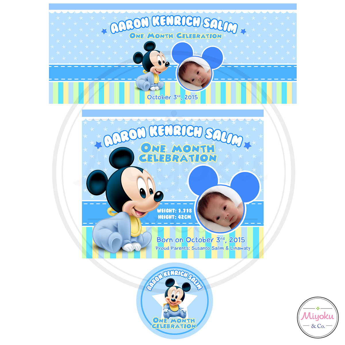 Comment on this picture ulang tahun anak contoh undangan kartu apps - Design Stiker Goodie Bag Ulang Tahun Baby Mickey