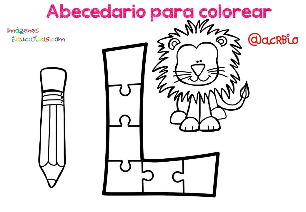 Alfabeto Para Colorear: IMAGENES PARA EDUCACION: Abecedario Para Colorear
