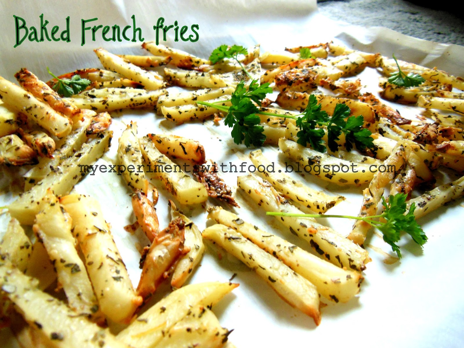 To make the fries crispy, just cut them to thin slices, which helps ...