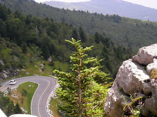 Driving the steep roads at Grandfather Mountain