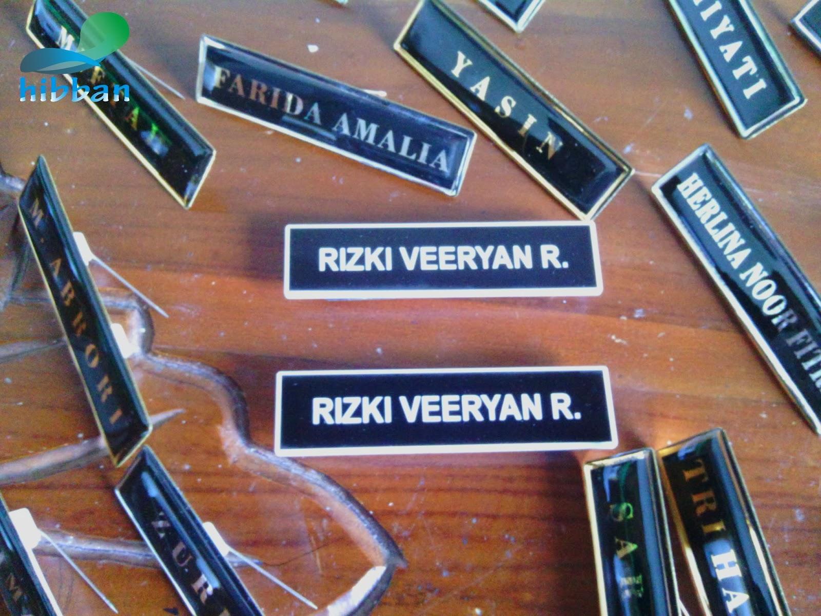 Jual Jasa Pembuatan Papan Nama Dada Grafir