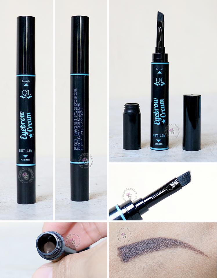 QL Cosmetic Eyebrow Cream Review