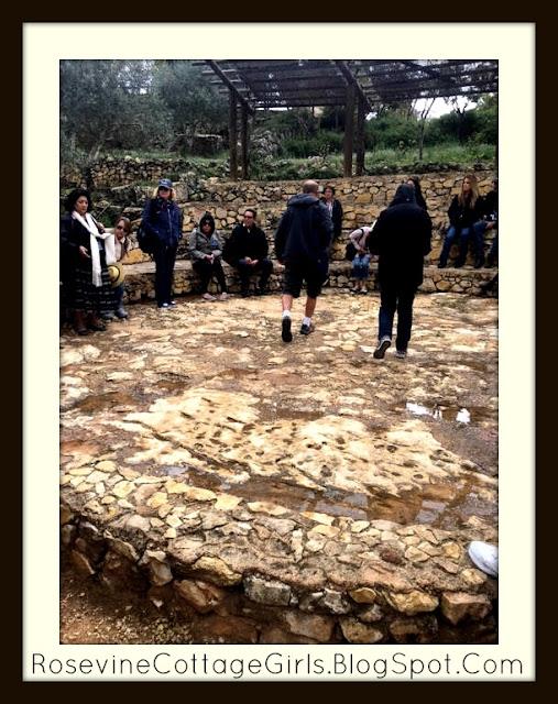 Us in the rain in Yad Hashmona