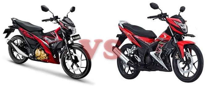Perbandingan Akselerasi dan Top Speed Honda Sonic 150R Vs Suzuki All New Satria F150 FI