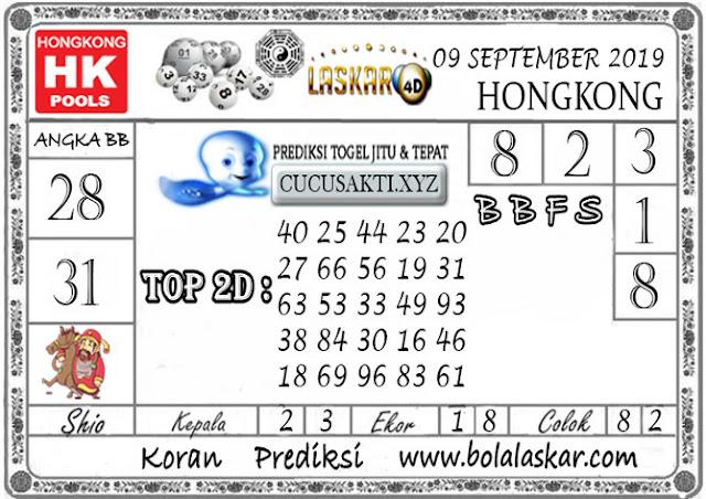 Prediksi Togel HONGKONG LASKAR4D 09 SEPTEMBER 2019