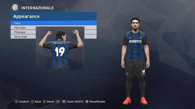 PES 2017 Inter Classic Kits