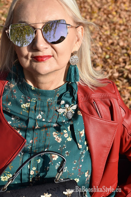 blogerka modowa 50 plus, over50 plus, blogfashion, fashionstylist, stylistka, kreator wizerunku, babooshkastyle, modna50, Orsay, Booprix, Dune London, Ryłko, ramoneska, leather jacket